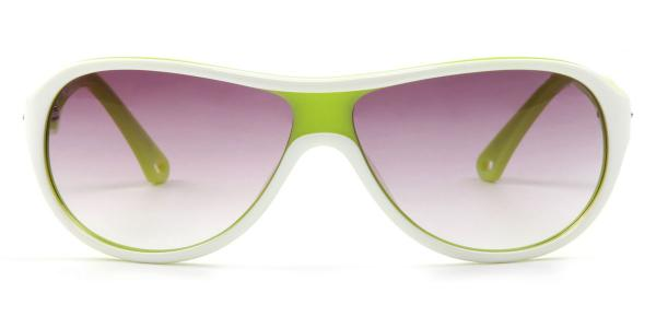 010 Meredith Oval green glasses