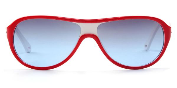 010 Meredith Oval red glasses