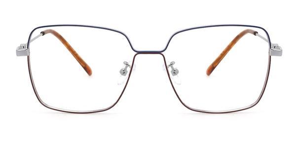 0510 rebecca Rectangle blue glasses