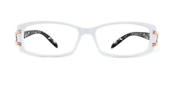 1189 Galina Rectangle white glasses