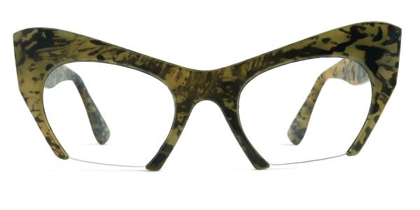 1536 Valeria Cateye green glasses