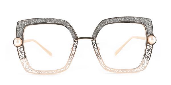 15472 Xela Geometric grey glasses