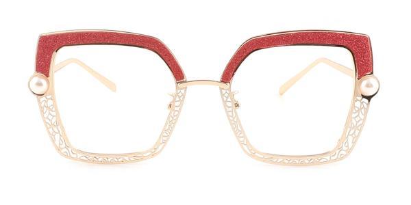 15472 Xela Geometric red glasses