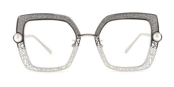 15472 Xela Geometric silver glasses