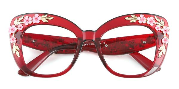 1565 Tropic Cateye red glasses