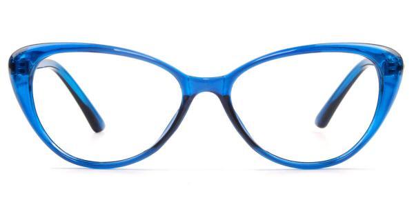 1596-1 Joyce Cateye,Oval blue glasses