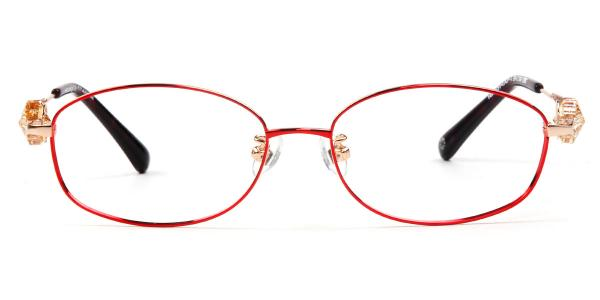 162014 Florrie Oval red glasses