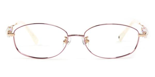 162014 Florrie Oval white glasses