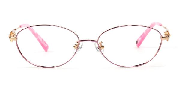 162018 Elinor Oval pink glasses