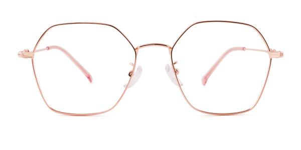 18035 Benita Geometric gold glasses
