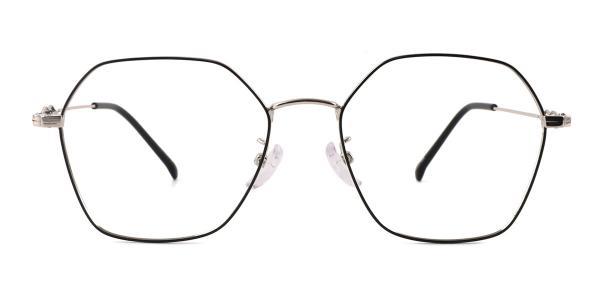 18035 Benita Geometric silver glasses