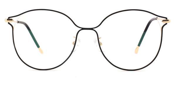 18043 Mignon Round black glasses