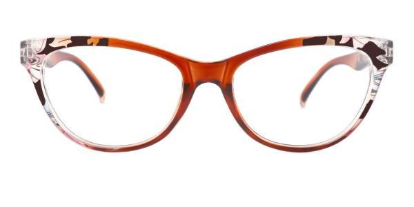 18112 Fabiola Cateye brown glasses