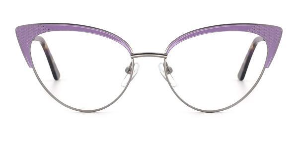 1828-1 Mila Cateye purple glasses