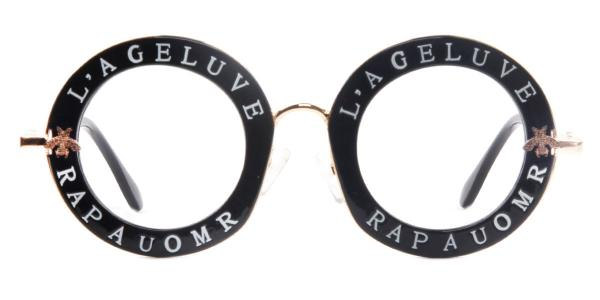 1828 Kameko Round black glasses