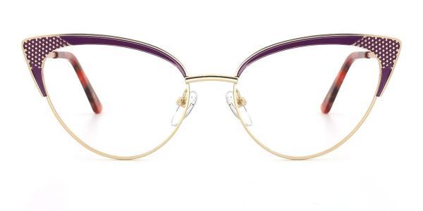 18281 Florence Cateye purple glasses