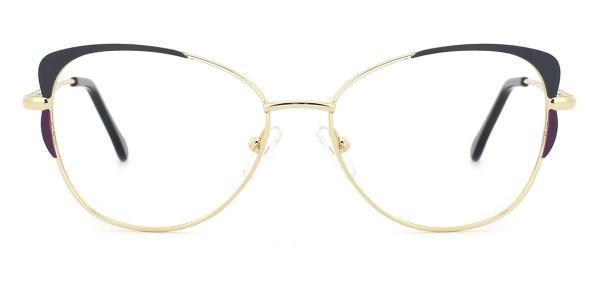 18441 Pamelia Cateye gold glasses