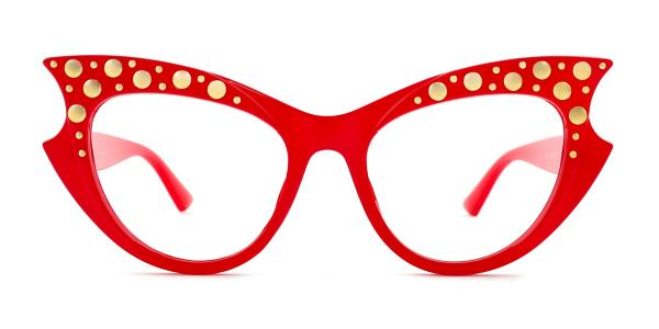 18550 Priscilla Cateye red glasses