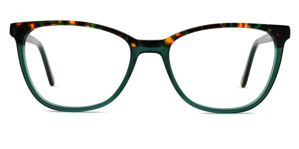 1866 Alice Oval green glasses
