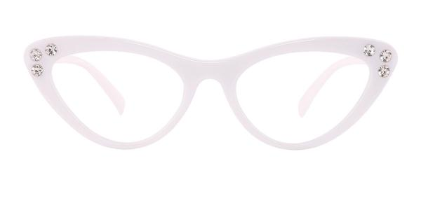 18701 Hana Cateye white glasses