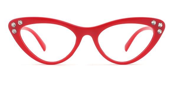 18701 Hana Cateye red glasses