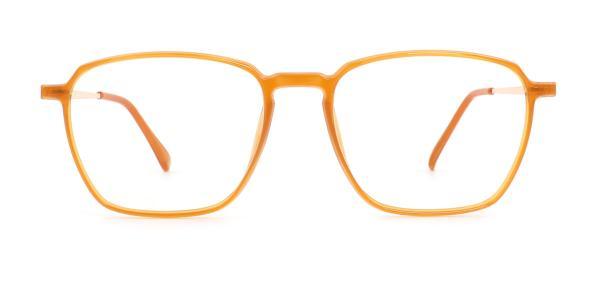 1896 Lauretta Geometric orange glasses