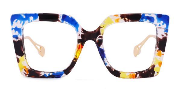 1916 Felicia Rectangle blue glasses