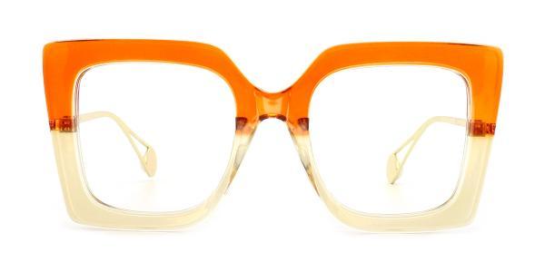 1916 Felicia Rectangle orange glasses