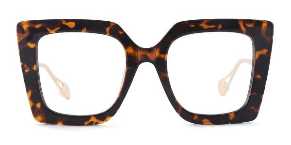 1916 Felicia Rectangle tortoiseshell glasses