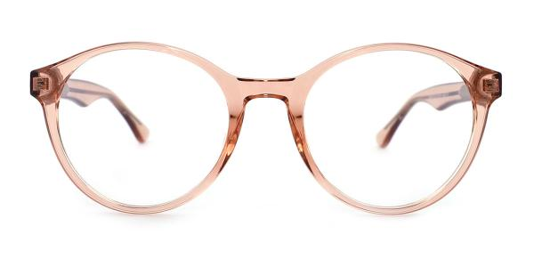20071 Crystal Round brown glasses