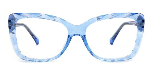 2009 Tacy Rectangle blue glasses