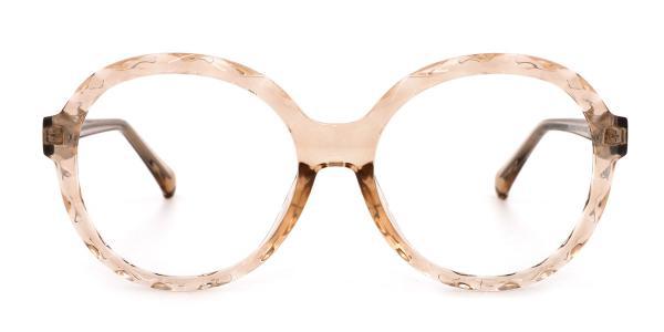 2010 Mahalia Round brown glasses