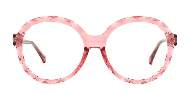 2010 Mahalia Round pink glasses
