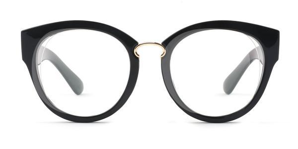 2015 Irma Round black glasses