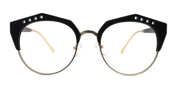 20212 Jeanne Geometric black glasses