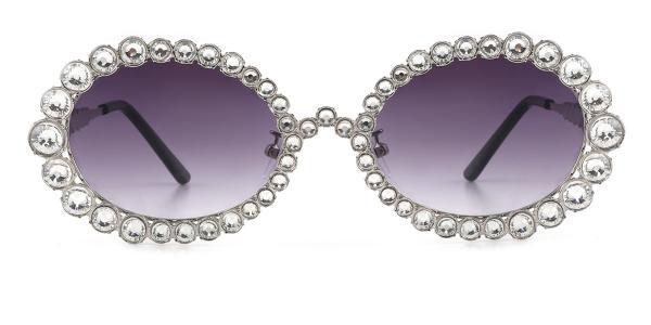 2026 Starlight Oval silver glasses