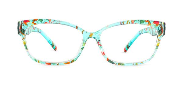 2063-1 Fatima Rectangle green glasses