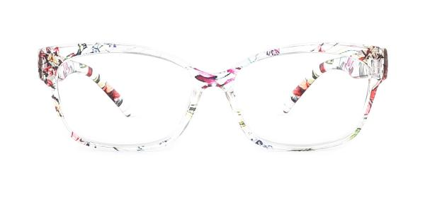 2063-1 Fatima Rectangle floral glasses