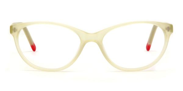 2119 Stella Oval white glasses