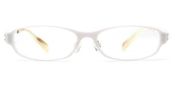 22046 Hepburn Oval white glasses