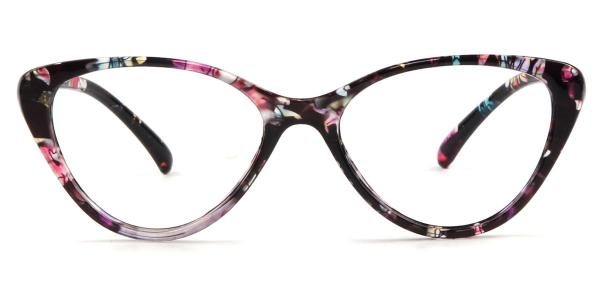 2383 Libby Cateye floral glasses