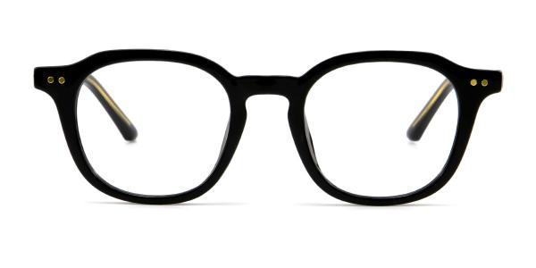 2557 Abrahams Geometric black glasses