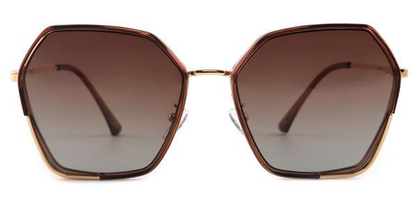 3300 Rafael Geometric brown glasses