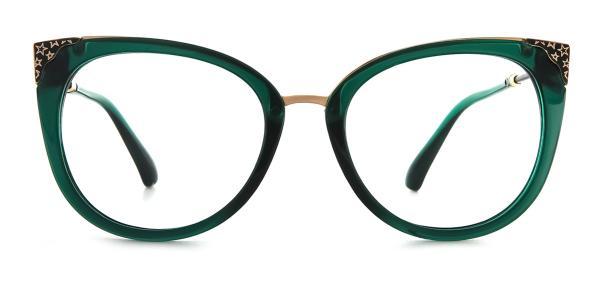 377 Ladonna Cateye green glasses