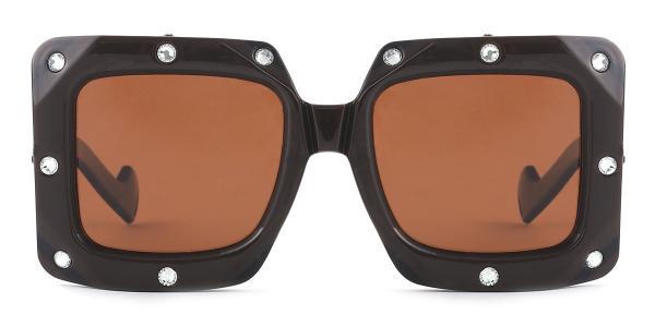 461 Bronx Rectangle brown glasses