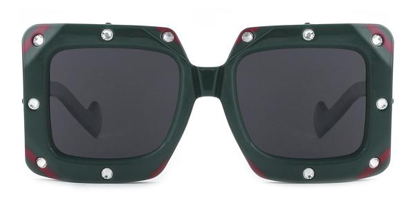 461 Bronx Rectangle green glasses