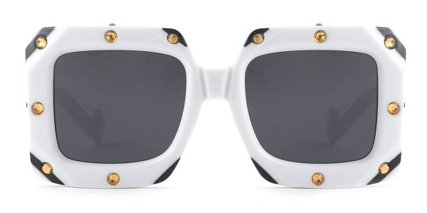 461 Bronx Rectangle white glasses