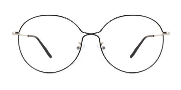 5017 Theresa Round black glasses