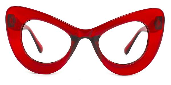 5141 Ruby Cateye red glasses