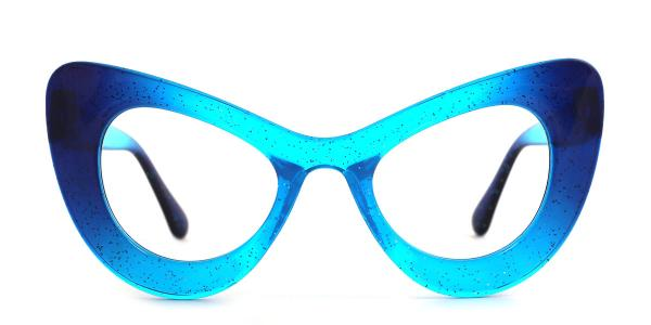 51411 Gina Cateye blue glasses